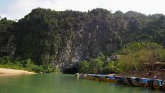 Entrance of Phong Nha Cave, Phong Nha-Ke Bang National Park, Vietnam Stock Footage