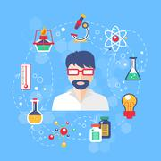 Chemistry concept illustration - stock illustration