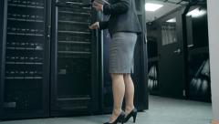 Supercomputer Work Analysis - stock footage
