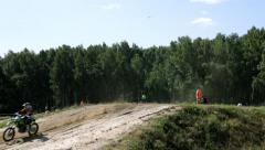 Motocross competition Stock Footage