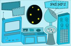 Space ship Piirros