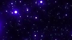 Blue Glowing Spheres Stars Starfield Loop 1 rotate left Stock Footage