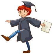 Stock Illustration of A graduate