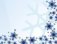 abstract snowflakes vector illustration art - stock illustration