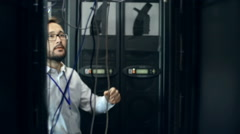 Data Storage Room Inspection - stock footage