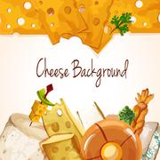 Stock Illustration of Cheese assortment background