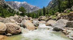 Mountain river in Himalayas - stock footage