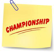 championship message - stock illustration