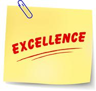 excellence message - stock illustration