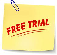 free trial message - stock illustration