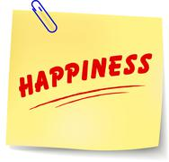 Happiness message Stock Illustration