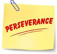 perseverance message - stock illustration