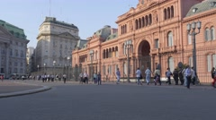 Argentine Government House Stock Footage