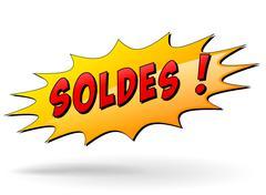 Sale starburst sign Stock Illustration