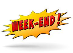 Week-end icon Stock Illustration