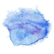 blue watercolor spot - stock illustration