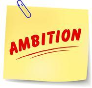 Ambition message Stock Illustration