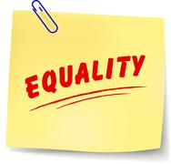 equality message - stock illustration