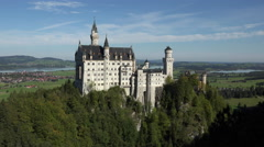 Germany Neuschwanstein Castle from mountain above 4K 083 Stock Footage