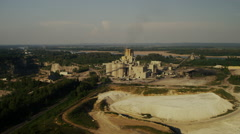 Refinery quarry and river Stock Footage