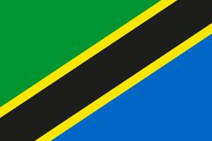 National flag of tanzania Stock Illustration
