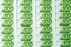 one hundred euro banknotes - stock photo