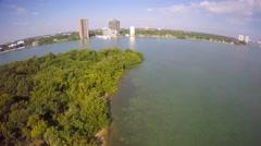Secluded island orbit aerial 4k Stock Footage