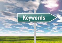 signpost keywords - stock illustration