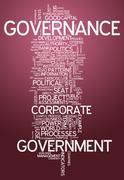 Stock Illustration of word cloud governance