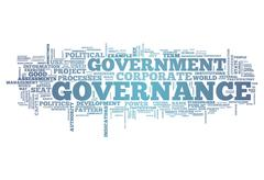 Stock Illustration of word cloud governance