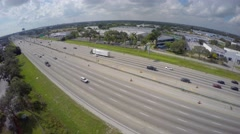 Aerial 4k video I95 Interstate 95 Stock Footage
