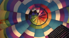 Hot air balloon fire burner Stock Footage