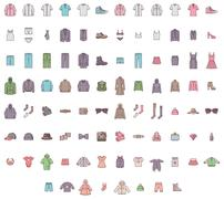 Big clothes set Stock Illustration