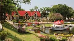 Mini Siam park in Pattaya, Thailand Stock Footage