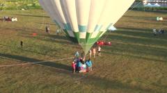 Hot air balloons rising Stock Footage