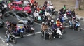Road traffic in Bangkok, Thailand. Many people ride motorcycles HD Footage