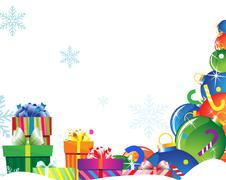 Bright gifts on snow Stock Illustration