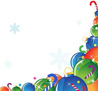 Christmas  decorations and candy Stock Illustration