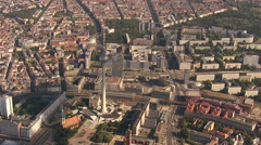 Berlin Alexanderplatz, Aerial shot - stock footage