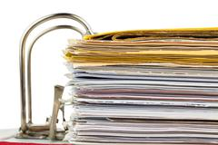 File folder with documents and documents Stock Photos