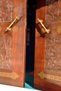 Old historic wooden door Stock Photos