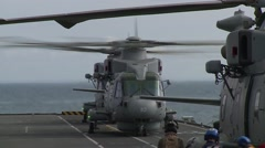 Royal Navy Merlin Mark 2 Helicopters Stock Footage