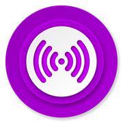 wifi icon, volet button, wireless network sign. - stock illustration