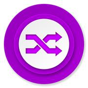 Stock Illustration of aleatory icon, violet button.