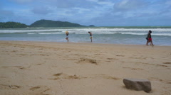 Patong beach, time lapse Stock Footage