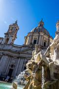 italien, rom, piazza navona - stock photo