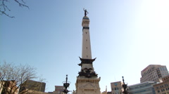 Indianapolis Soldiers And Sailors Monument - stock footage