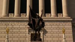 Indiana War Memorial Exterior Stock Footage