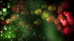 Night Christmas Bakground Stock Footage