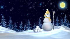 2016 Christmas Snowman - stock footage
